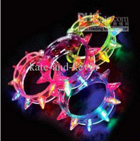 Wholesale Led Light Up Party Blinking Flashing Spike Bracelet Wedding Bar Rave Blinking Flashing Light Led