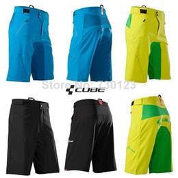 Wholesale-Free Shipping 2014 Cube Teamline Cycling Mountain Bike Riding Shorts MTB BMX Downhill MX Motorcross Shorts Bicycle Bermudas