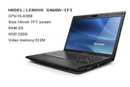 Wholesale Laptop PC Lenovo G460A IFI Intel I5 inch Laptop PC GB RAM GB HDD Computers Black Color