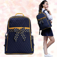 Wholesale 8848 Quilted Cotton Fabric Girls Schoo lBags Backpack Laptop bags with Bow for Ages BP1015 BP1017