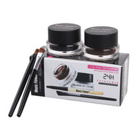 waterproof liner - Best Seller in Brown Black Gel Eyeliner Make Up Waterproof Freeshipping Cosmetics Set Eye Liner Makeup Eye set