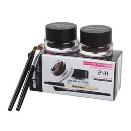 Wholesale Best Seller in Brown Black Gel Eyeliner Make Up Waterproof Freeshipping Cosmetics Set Eye Liner Makeup Eye set