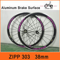 2014 Alloy Brake Surface Wheels Full Carbon Road Bike Clinch...