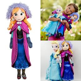 Wholesale 50cm Frozen Doll Princess Elsa Anna Plush Doll Toys for Children Baby Kids Toys Action Figures Frozen Plush Toys Boneca Frozen