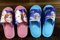 Wholesale 9 off IN STOCK Fashion Pretty Snow adventure elsa anna Household shoes Child yards slippers DROP SHIPPING hot sale pairs MC