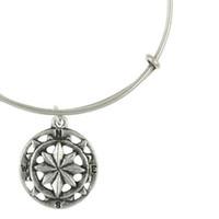 El original de Alex y Ani Brújula Ampliable Cable Brazalete / Tamaño ajustable ajustable anillo de cobre joyas pulsera fábrica