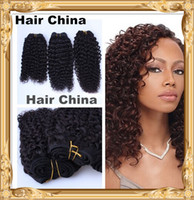 Wholesale 6A Human Remy Hair Weft Weave Bundles Brazilian Hair Mixed Kinky Curly Natural Black Off Black b g Fashionab With Cheapest Pirce