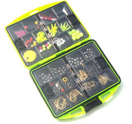 Wholesale Fishing Compartments Fishing Tackle Box Full Loaded Hook Spoon Sinker Water resistant swivels Fishing Tackle accessories