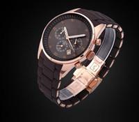 Wholesale Men Quartz Watches Women Watch Brown Rubber Rose Gold Strap Man Women Wristwatches Ladies Hours wristwatches Luxury Box