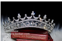 Tiaras&Crowns Rhinestone/Crystal  Wedding Bridal crystal veil tiara crown headband CR162