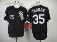 Wholesale White Sox Frank Thomas Black Men Baseball Jerseys Chicago Coolest Baseball Uniforms High Quality Stitched Sports Wear Top Seller Jersey