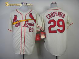 online shopping Cardinals Carpenter White Baseball Jerseys Top Cool Base Team Baseball Apparel Authentic Baseball Uniforms High Quality Outdoor Uniform