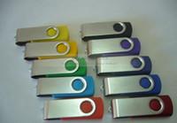 Wholesale silver metal swivel GB custom USB Flash Memory Pen Drives Sticks Disks Pendrives