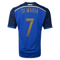 Wholesale TOP Thai Quality world cup jerseys Argentina home and away soccer jersey DI MARIA or free choose number and name