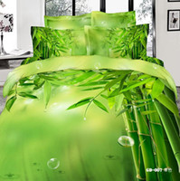 forever bamboo fabric - 3D Viridis Bamboo Bedding Sets Queen King Size Cotton Fabric Quilt Duvet Cover Fitted Flat Sheet Pillow Cases Reactive Printing