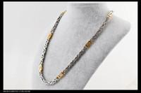 2014 hot sale Men's Fashion Necklace. Flat snake necklace, go...