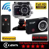 Wholesale New Wifi CAM Full HD P Extreme Sports Action Camera Waterproof Sports Video Camera Camcorder DV IR Remote Control By Phone Tablet
