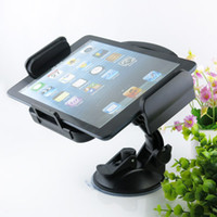 Wholesale 2014 New Arrival for Inch to Inch Tablet Universal Tablet PC Windshield Car Mount Holder Degree Rotable Cradle Free DHL EMS