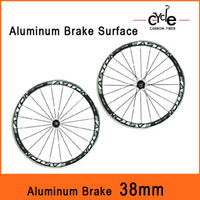 2014 Alloy Brake Surface Anti- wear wheels Full Carbon Road B...