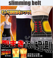 Wholesale 2014 Hot Sale Steps Slimming Belt Trimming Sweat Sauna Tummy Waist Belt Slimming Belt Abdominal Band heating Cummerbund Light Fat belt