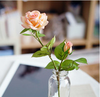 Wholesale 33cm TALL COLORS ARTIFICIAL LATEX ROSES SILK FLOWERS real touch roses artificial flowers