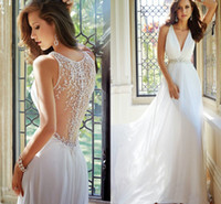 2015 New Collection Sexy V- Neck Summer Prom Dresses Crystal ...