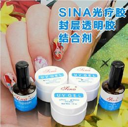Wholesale 1 Set UV Gel Nail Tools Builder For Creating Fantastic Crystal French Nail Effect Clear White Pink UV Topcoat Base Gel Nail DIY Gel