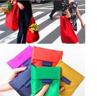 Wholesale Fashion Candy color Japan Baggu Folding Reusable Eco Friendly Shopping Tote Bag colors pouch Environment Safe Go Green High Quality