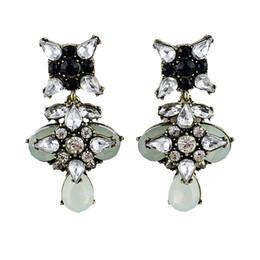 Wholesale 2Hot Summer Fashion Colorful Rhinestone Beads Owl Shape Dangle Earrings For Bijoux Women