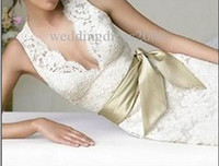 Wholesale Custom Made Lace Mermaid Wedding Dress V neck Backless Bridal Prom Gown Formal Party Evening Dresses