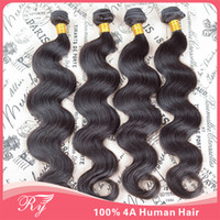 Wholesale RY promotion products human hair weave wavy grade A brazilian body wave remy hair fast shipping by DHL or FEDEX