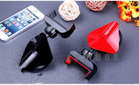 Wholesale Cell Phones GPS Car Mount Holder with Degree Rotating Sucker Stand for iPhone s for Samsung for HTC for Sony