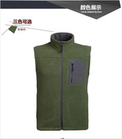 Wholesale Waistcoat Male Outdoor Camping And Hiking Jacket Warm Fleece Micro Polar Fleece Climbing Jacket Colors Shipping
