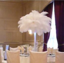 Wholesale LED lights 45cm An ostrich Feather Flower Pot Vase Bouquets wedding party christmas