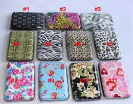 Wholesale - Free shipping 200pcs lot Printing Aluminium Credit card cases card holder aluminum wallet