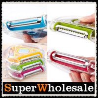 Wholesale Retail in Kitchen Helper Vegetable Fruit Julienne Rotary Peeler Slicer Chopper Tool