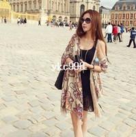 Wholesale Fluid female national trend vintage scarf cape dual use ultra long C033