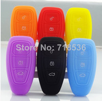 Wholesale luminous Ford focus Ecosport Silicone car key cover remote cover for Fiesta Focus Mondeo Ecosport Kuga focus st