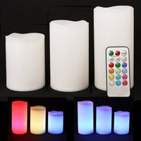 Wholesale LED Flameless Wax Candles Colors Changing Battery Candles Home Decor LED Candles with Remote Control LED Battery Candle Set