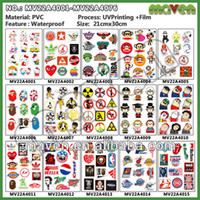 Wholesale sheets PVC Sheet Vinyl Car Sticker and Decals Different Models for Car Accessories