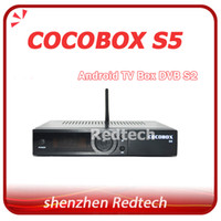 Wholesale Android DVB S2 COCOBOX S5 full HD Satellite receiver receptor decoder with Card Sharing Combine Android TV Box