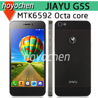 Wholesale Newest Octa Core JIAYU G5S G5 MTK6592 Ghz G RAM G ROM quot IPS MP OGS Gorilla JIAYU mobile phone free ship
