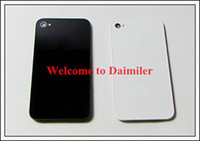 Wholesale Back Glass Battery Housing Door Back Cover Replacement Part With Flash Diffuser For iphone G S Best Quality DHL Free