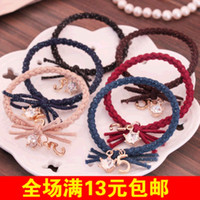 Cheap Barrettes & Clips Taobao Best Hair rope Dark green blue khaki burgundy black cof Dig treasure