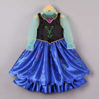 Wholesale 2014 New Style Girls Frozen Dress Elsa Anna beautiful Dress Fashion princess Dress Children s Cloting GD40604