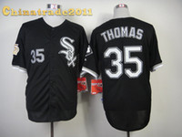 Wholesale White Sox Frank Thomas Black Men Baseball Jerseys Chicago Coolest Baseball Uniforms High Quality Stitched Sports Wears Top Seller Jersey