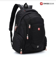 Wholesale Large discount Swiss gear backpack men and women inches laptop bag school student backpack travel hiking backpacks