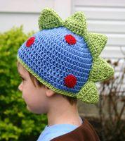 Wholesale new autumn winter Childrens boys babys kids Pure hand woven wool hat hat dinosaur shape cap amp hats LY