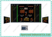 Wholesale LED electronic basketball match scoreboard with shot clock and play time display