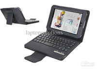 7'' For Apple For Ipad 2/3 Wholesale - Black Detachable Wireless Bluetooth Keyboard Leather Case for Barnes Noble Nook HD 7 DHL Free Shipping